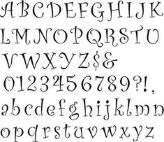 This curly font alphabet and number wall stencil is the perfect lettering with a little style. Fancy Fonts Alphabet, Abc Font, Hand Lettering Alphabet, Fancy Letters, Alphabet Wall, Alphabet Stencils, Letter Fonts, Alphabet Charts, Stencil Lettering