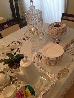 Mesa posta para um chá da tarde ✨✨