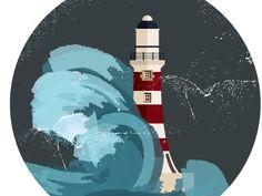 lighthouse in the storm by Ana Klaric