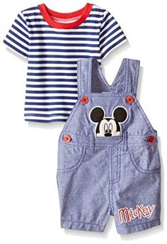 Disney Baby Boys' Mickey Mouse Overall Short Set (Pack of 2), http://www.amazon.com/dp/B018KFYK5W/ref=cm_sw_r_pi_awdm_QRIfxb0T8YFPE