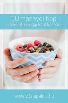 A zabkása az egyik legjobb alternatívája az egészséges reggeliknek. Nagyszerű szénhidrátforrás, ami lendületet ad, de a vércukorszintet nem emeli az egekbe. Nem elhanyagolható, hogy kevés zsírt, kalóriát tartalmaz, finom és pillanatok alatt elkészíthető. Összegyűjtöttem 10 trükköt, amivel ezerféle módon variálhatod a zabkásádat! Chia Puding, Diet Recipes, Healthy Recipes, Healthy Lifestyle, Paleo, Food And Drink, Vegan, Diet Foods, Cooking
