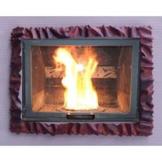 Frame design WROUGHT IRON for fireplace with or without LED. Customize creations. 400 Wrought Iron, Articles, Home Appliances, Led, Frame, Design, Home Decor, House Appliances, Picture Frame