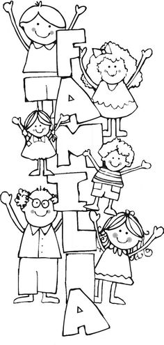 Discover recipes, home ideas, style inspiration and other ideas to try. Family Theme, Family Day, Elementary Spanish, Teaching Spanish, Colouring Pages, Coloring Books, School Worksheets, Family Crafts, Pre School