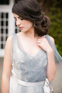And something blue wedding gown | photo by Jessica Burke | 100 Layer Cake