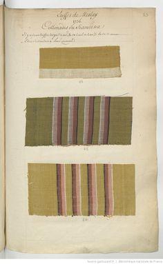 Etoffes de Meslay // 1736 : [échantillons de tissus] | Gallica Textile News, Textile Fiber Art, Textile Fabrics, Fabric Yarn, Fabric Books, Century Textiles, 18th Century Fashion, Vintage Textiles, Fabric Samples