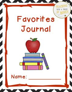 $ Need ideas to get your students writing? Promote writing with these journal writing prompts about your students' favorite things.