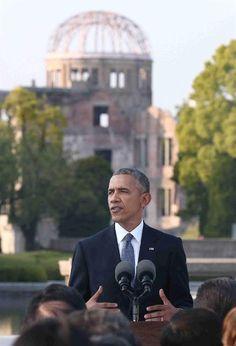 「核なき世界」へ決意表明 オバマ米大統領、広島訪問 - 産経フォト #広島訪問 #平和公園 #オバマ大統領