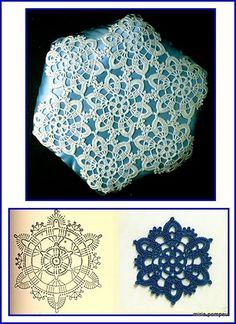 MIRIA CROCHÊS E PINTURAS Crochet Diy, Crochet Home, Irish Crochet, Crochet Motif, Crochet Doilies, Crochet Stitches, Crochet Patterns, Crochet Cushions, Crochet Squares