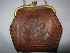 Child's Leather Teddy Bear Purse