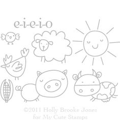 e-i-e-i-o clear stamps - my cute stamps
