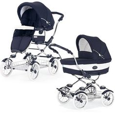 Bebecar Grand Style Chrome Combination Pram (Oxford Blue)