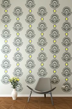 Retro Wall Decor Floral Wall Decals Flower by WallStarGraphics