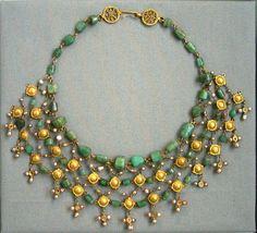 Roman era; Gold & Emerald Necklace - Altes Museum, Berlin by noriko.stardust, via Flickr