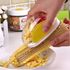 2,15€ - Novelty New Gadgets Corn Stripper Cob Remover  Cooking Tools Kitchen Accessories - Ocean Simplicity Home Decor