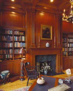 Wood panelling. Books galore. Perfect study.