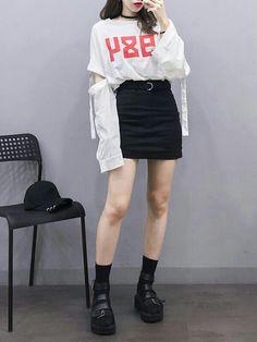 Trendy clothing on korean street fashion 269 Korean Street Fashion, Korean Fashion Trends, Korea Fashion, Asian Fashion, Korean Fashion Kpop, India Fashion, Cute Fashion, Teen Fashion, Fashion Outfits