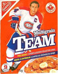 Breakfast cereal image for Team cereal called 1992 Canadian Team Cereal Box. Montreal Canadiens, Hockey Boards, Cereal Boxes, Ice King, Hockey Players, Ice Hockey, Nhl, Hockey Stuff