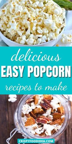 Healthy Popcorn, Popcorn Recipes, Snack Recipes, Cooking Recipes, Vegan Snacks, Yummy Snacks, Healthy Snacks, Citrus Recipes, Snack Mixes