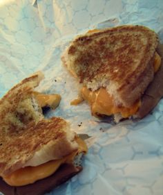 Deliciously perfect grilled cheese sandwich from Happy Halloween Weekends at Holiday World.