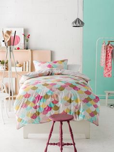 Tilda Pink Quilt Cover Set by Marie Claire Mini