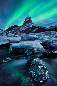 ~~The Coronation   epic aurora borealis during a very cold winter night, Stetinden, Norway   by Stefan Hefele~~