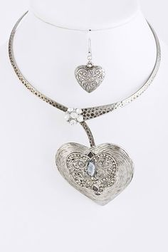 Suzi Artworks | Heart Metal Collar Necklace | Online Store Powered by Storenvy