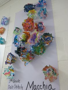 Chihuly art sculpture with coffee filters and spray starch.   Ms. Motta's Mixed Media: Can you say CHIHULY?!!!!!