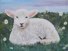 Original oil painting On the meadow original by KindWhiteCat