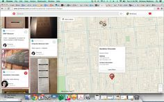 pinterest map and card view ui design