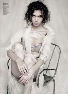 Arizona Muse by Paolo Roversi for Vogue China April 2011 ||| Paolo Roversi's soft and romantic style lends itself to the April issue of Vogue China where the Italian photographer shoots leading model Arizona Muse in lingerie inspired ensembles. Styled by Nicoletta Santoro, Arizona dons a pale color palette featuring the work of Proenza Schouler, Lanvin, Donna Karan and more in Sound of Silence. ||| Portrait - Editorial - Fashion - Photography