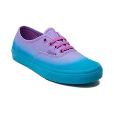 Show your shades of style with the new Authentic Fade Skate Shoe from Vans! The Authentic Fade Skate Sneaker sports an ombre printed canvas upper with lace closure for a secure fit and vulcanized rubber sole with signature waffle tread for grip and traction. Only available at Journeys and SHI by Journeys!