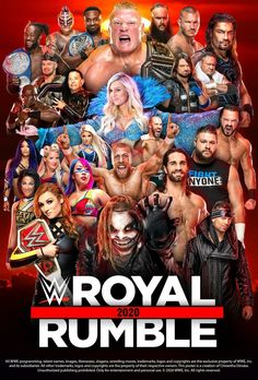 WWE Royal Rumble 2020 Poster by Chirantha on DeviantArt Wrestling Posters, Wrestling Wwe, Wwe Bray Wyatt, Wwe Events, Wwe Ppv, New Movies 2020, Raw Wwe, Wwe Royal Rumble, Wwe Superstar Roman Reigns