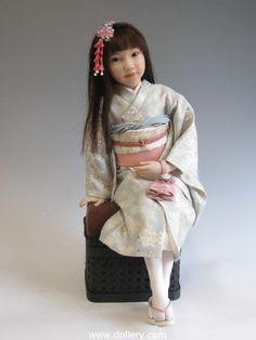 """Stephanie Cauley doll """"Girl in Kimono- redress"""" 2011"""