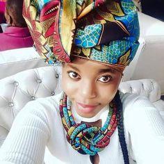 Praise poet jessica mbangeni in iconic xhosa headgear afrochic headgear ccuart Gallery