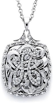 18k White Gold Initial Pendant available (A-Z) by Tacori- Since1910.com #diamonds