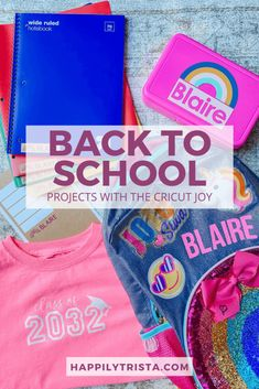 AD: Sharing 4 easy ways to personalize back to school with the Cricut Joy. #cricutcreated