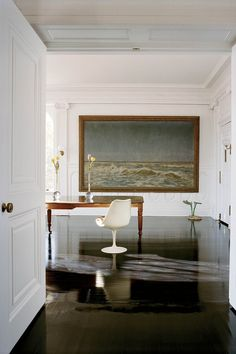 This is the kind of painting I dream of.  (Having a gorgeous home with ample wall space doesn't hurt).  Michael Bruno of 1st dibs.