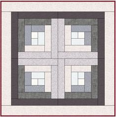Here is a tutorial on how to make a log cabin quilt in a Barn Raising style. There are also several other styles shown and even a bit of history thrown in. Quilting 101, Machine Quilting, Log Cabin Quilts, Log Cabins, Black And White Quilts, Quilt Storage, Flower Quilts, Landscape Quilts, Hexagon Quilt