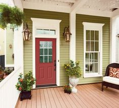Like this green color for the house exterior