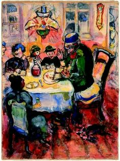 'Passover With Elijah at the Open Doorway.' - Marc Chagall.