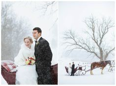 Snowy Grand Geneva Wedding