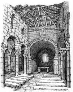 San Juan de Baños (Iglesia de San Juan Bautista) monumento visigodo situado en la localidad de Baños de Cerrato a 7 km de la capital palentina. Está considerada la iglesia en pie más antigua de España. Es una iglesia visigoda mandada construir por el rey Recesvinto en el año 661.