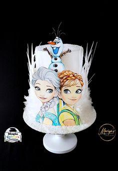 Bolo Frozen, Disney Frozen Cake, Frozen Theme Cake, Frozen Birthday Cake, Disney Cakes, Geek Birthday, Superhero Birthday Cake, Birthday Cake Girls, Creative Birthday Cakes