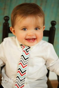 Baby Tie - Celebration Zigzag Long Neck Tie- Toddler Tie - Wedding - Holiday - Family Picture - Photography Prop