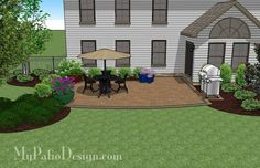 With Colorful Pavers And Tumbled Patio Block Our Private Backyard Design Seat Wall Will Create A Magnificent 415 Sq Mypatiodesign