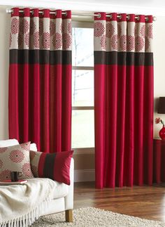 A gorgeous pair of ready made curtains. See more on #curtains2bedding.com