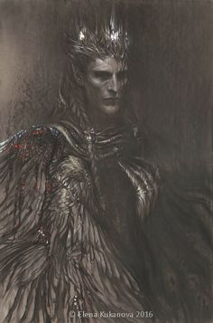 "Morgoth by EKukanova.deviantart.com on @DeviantArt. ""This vision of Morgoth is inspired by one fan-novell Замысел Эру — фанфик по фэндому «Толкин Джон Р.Р. «Сильмариллион»», «Толкин Джон Р.Р. «Арда и Средиземье»» And this cloak of bleeding wings is hallucination of captive Maedhros)"""