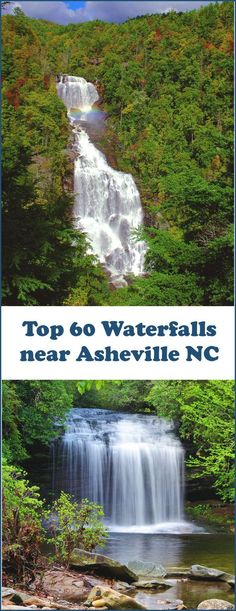 Find the top 60 North Carolina Waterfalls near Asheville and the Blue Ridge Parkway in western North Carolina mountains. Waterfalls Near Asheville Nc, Nc Waterfalls, North Carolina Waterfalls, Camping In North Carolina, Asheville North Carolina, North Carolina Mountains, South Carolina, Maggie Valley North Carolina, Paisajes