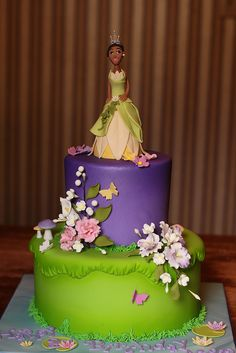 Princess & the Frog cake!