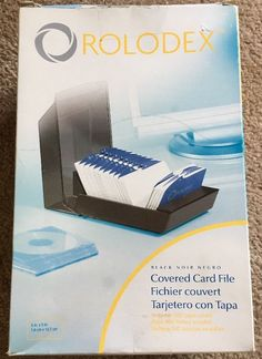 Genuine rolodex black card file with 3 x 5 cards and index guide rolodex 67037 rolodex covered business card file 500 3 x 5 cards reheart
